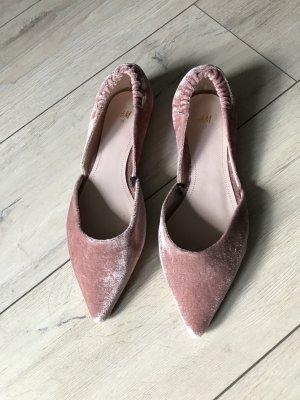 Loafer samt altrose spitz Größe 39