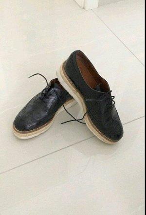 Loafer schwarz muster