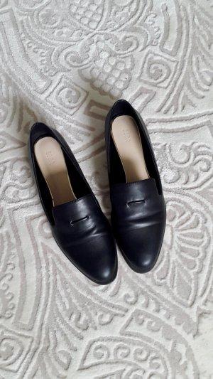 Loafer Slip-Ons Lederimitat Zara Schwarz