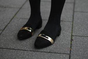 Loafer / Zara / Schwarz / Gold