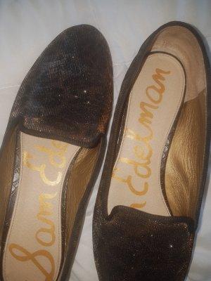 Loafers, gold, Glitzer, Gr.41 Leder, sehr gute Marke