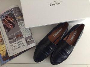 Loafers - marineblaue Dandy Shoes aus Leder