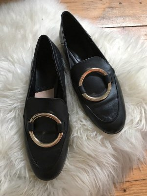 Mango Flats negro-color oro