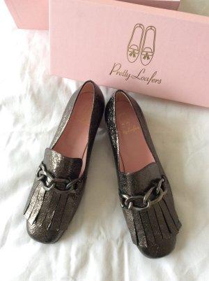 Loafers von Pretty Ballerinas* NEU* mit Originalkarton* Metalliclook taupe