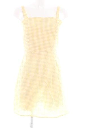 Loavies A-Linien Kleid weiß-blassgelb Karomuster Casual-Look