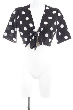 Loavies Bolero schwarz-weiß Punktemuster 30ies-Stil