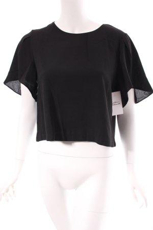 Loavies Cropped Shirt schwarz schlichter Stil