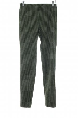 Loavies High Waist Trousers grass green-black houndstooth pattern casual look