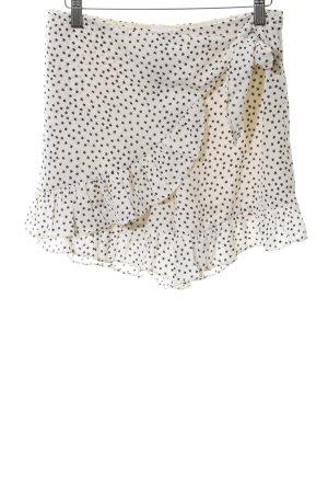 Loavies High-Waist-Shorts creme-schwarz Sternenmuster Wickel-Look