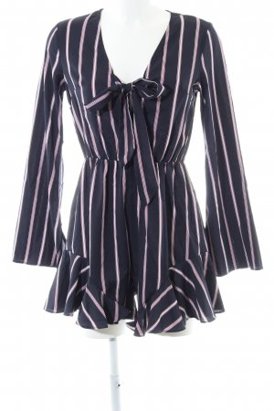 Loavies Jumpsuit dunkelblau-purpur Streifenmuster Casual-Look
