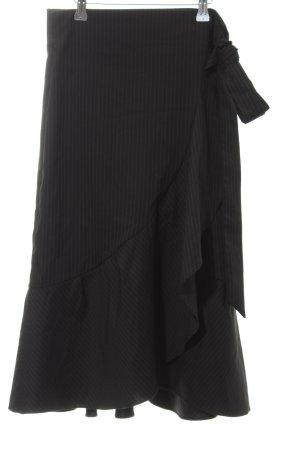 Loavies Peg Top Trousers black-white pinstripe casual look