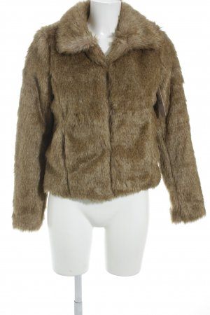 Loavies Fake Fur Jacket camel-oatmeal classic style