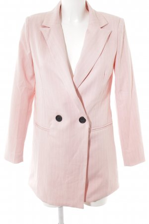 Loavies Kurz-Blazer weiß-rosa Business-Look