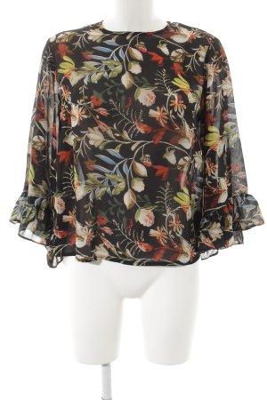 Loavies Langarm-Bluse florales Muster Romantik-Look