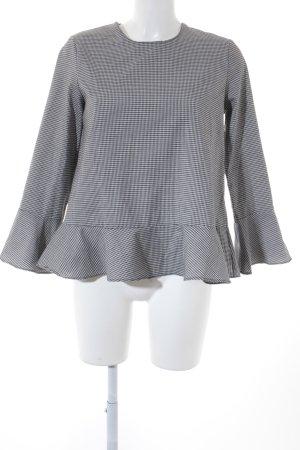 Loavies Langarm-Bluse Karomuster schlichter Stil