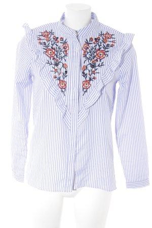 Loavies Langarm-Bluse mehrfarbig Romantik-Look