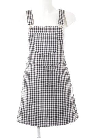 Loavies Pinafore Overall Skirt check pattern minimalist style