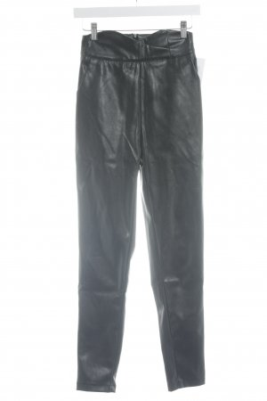 Loavies Leather Trousers black