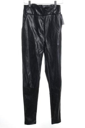 Loavies Lederhose schwarz Casual-Look