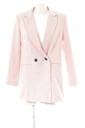 Loavies Long-Blazer rosa extravaganter Stil