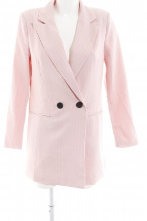 Loavies Long-Blazer rosa-weiß Nadelstreifen Business-Look