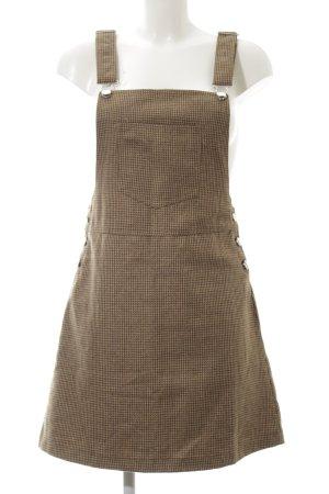Loavies Minikleid beige-dunkelbraun Hahnentrittmuster Casual-Look
