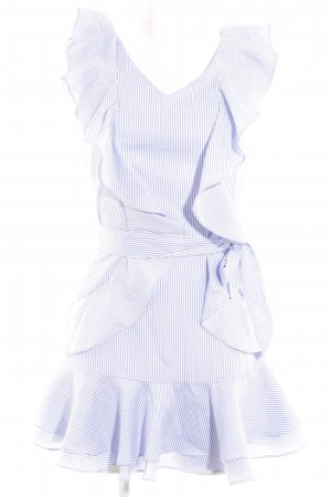 Loavies Mini vestido azul-blanco estampado a rayas look casual
