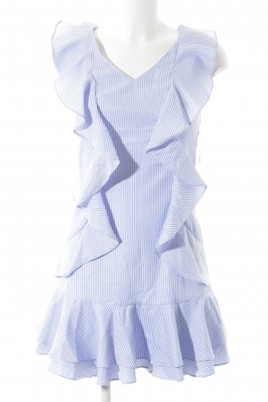 Loavies Minikleid kornblumenblau-weiß Streifenmuster Segel-Look