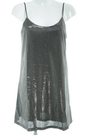 Loavies Minikleid schwarz-silberfarben Glanz-Optik