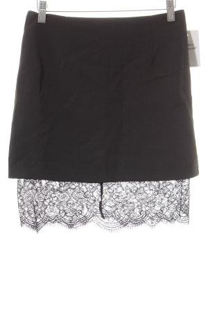 Loavies Mini rok zwart elegant