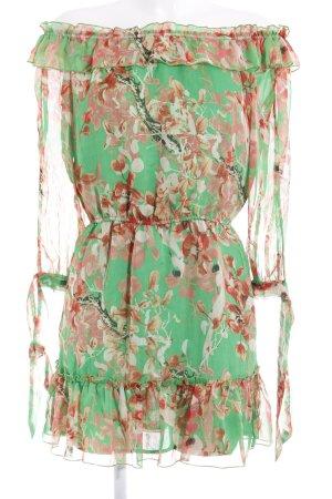 Loavies schulterfreies Kleid Blumenmuster Romantik-Look