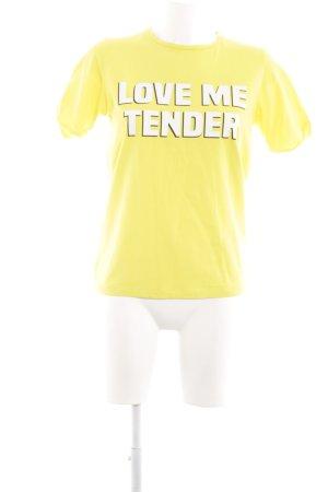 Loavies T-Shirt blassgelb Schriftzug gedruckt Casual-Look