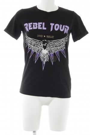 Loavies T-Shirt schwarz Motivdruck Street-Fashion-Look