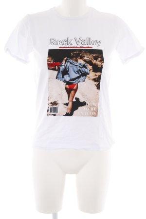 Loavies T-Shirt weiß Motivdruck Street-Fashion-Look