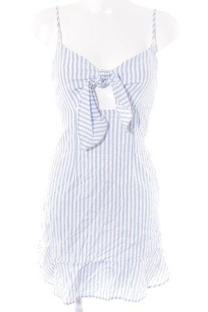 Loavies Trägerkleid weiß-himmelblau Streifenmuster Beach-Look
