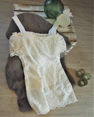 Lochmuster Kleid - weiß NA-KD