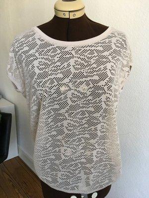 Lochmuster T-Shirt von OPUS beige, Gr.36