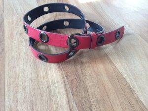 Cinturón de cadera rojo neón