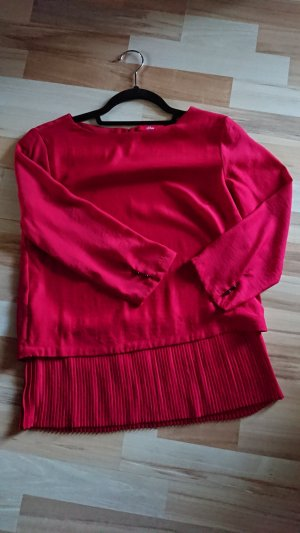 s.Oliver Blouse brillante rouge brique