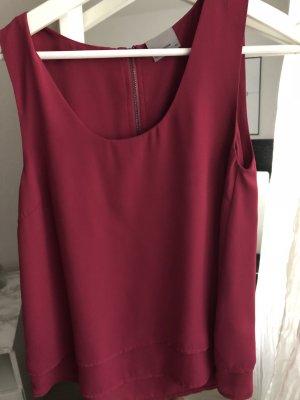 Vero Moda Zijden top roze-magenta