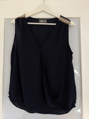 Apricot Blouse Top dark blue