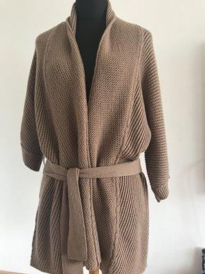 Rena Lange Cache-cœur en tricot brun sable laine vierge