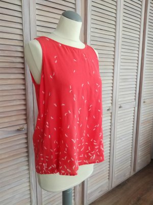 Locker leichte Bluse mit Feder-Print