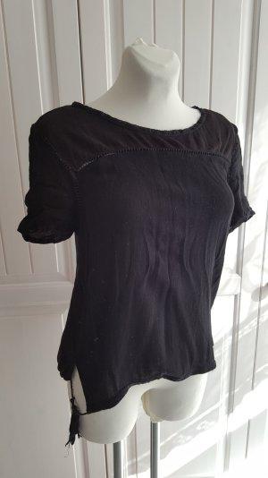 Locker leichtes Tunika-Shirt von EDC by ESPRIT, schwarz, Gr. M
