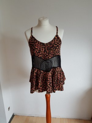 Haut en crochet multicolore