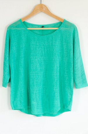 Locker sitzendes, knallig türkisgrünes Shirt