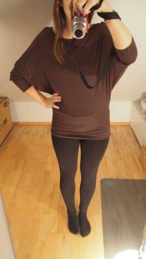 Shana Camisa larga marrón-negro-marrón grisáceo