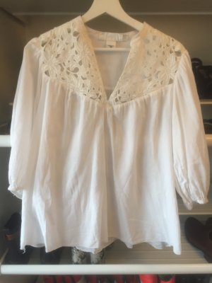 H&M Carmen Blouse white-natural white
