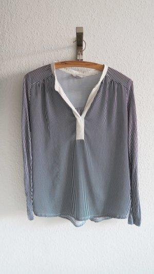 lockere Bluse blau weiß gestreift