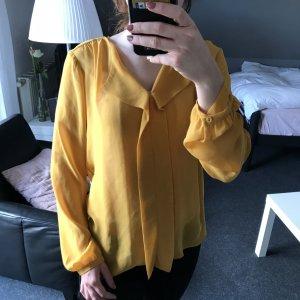 Lockere Bluse in Senfgelb